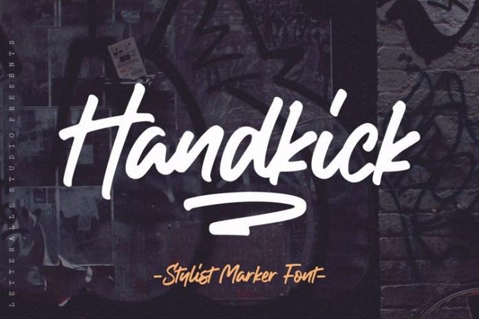 Handkick Handwritten Font