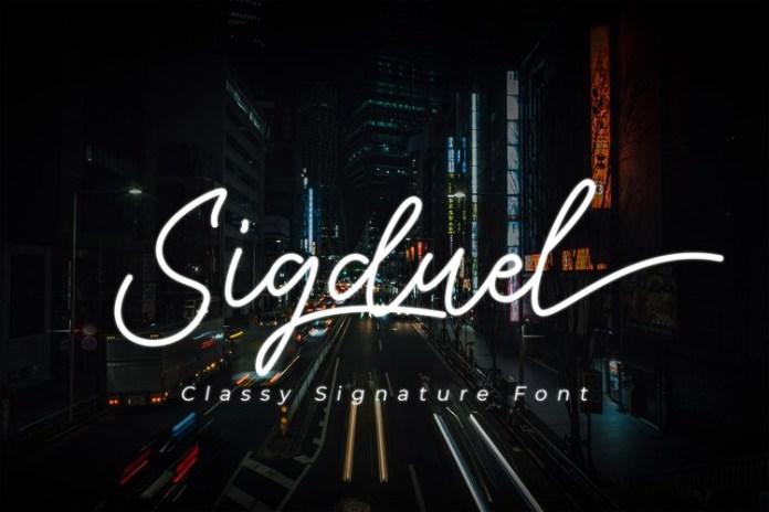 Sigduel Handwritten Font
