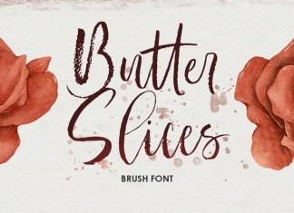 Butter Slices Brush Font