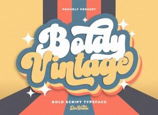 Boldy Vintage Script Font