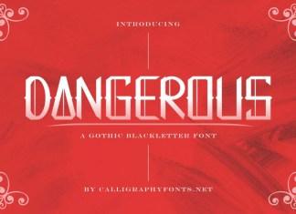 Dangerous Display Font
