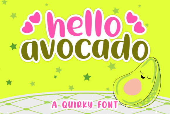 Hello Avocado Display Font