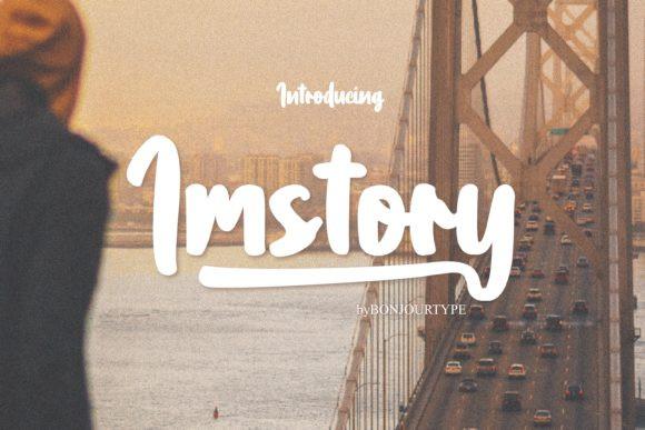 Imstory Brush Font