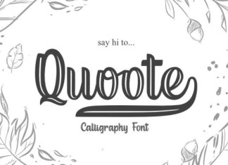 Quoote Script Font