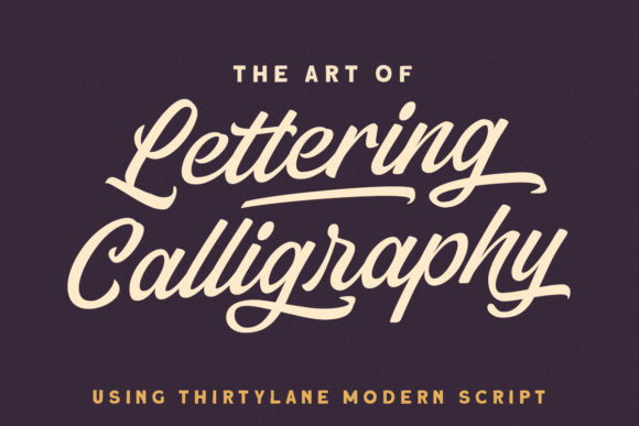 Thirtylane Script Font