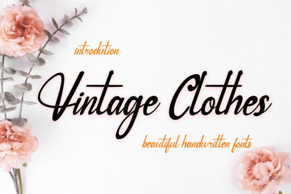 Vintage Clothes Script Font