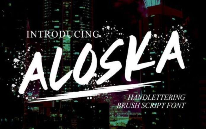 Aloska Brush Font