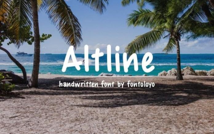 Altline Display Font