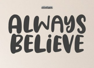 Always Believe Display Font