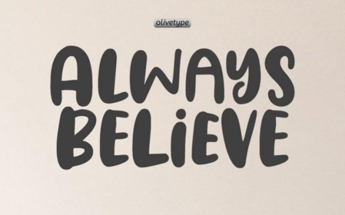 Always Believe Display Font