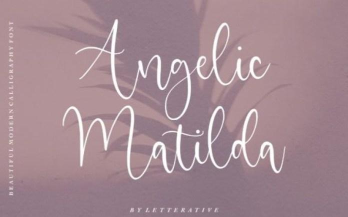 Angelic Matilda Calligraphy Font
