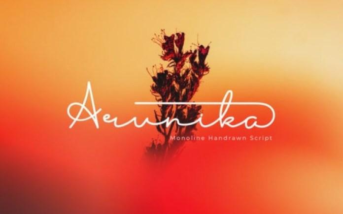 Arunika Handwritten Font
