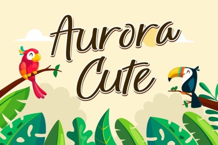 Aurora Cute Script Font