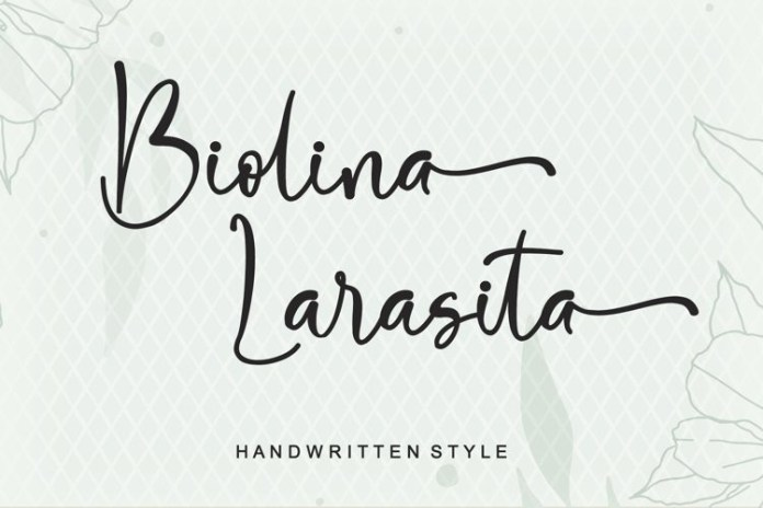 Biolina Larasita Script Font