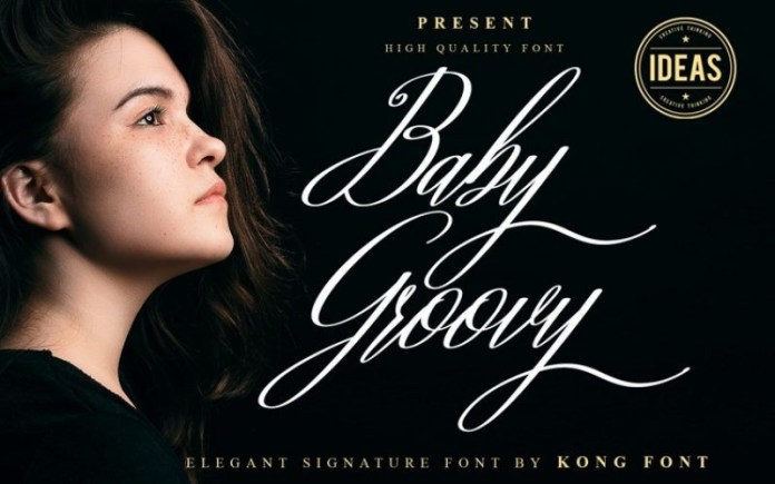 Baby Groovy Calligraphy Font