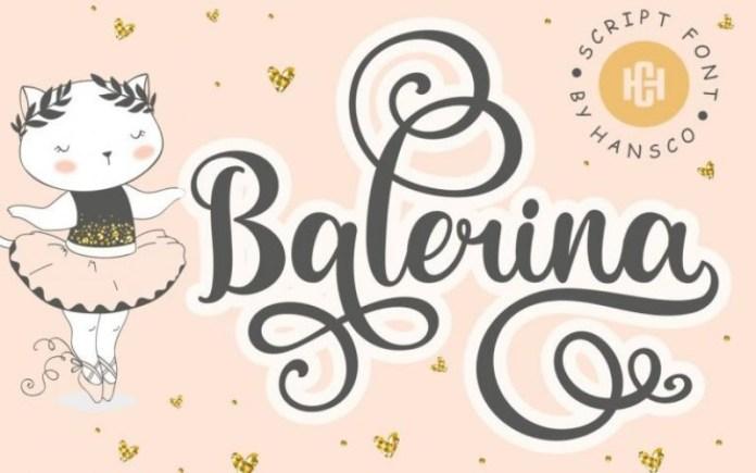 Balerina Calligraphy Font