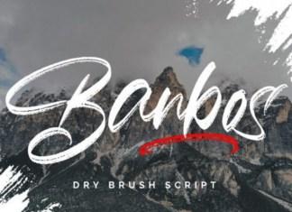 Banbos Brush Font