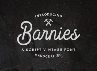 Barnie's Script Font