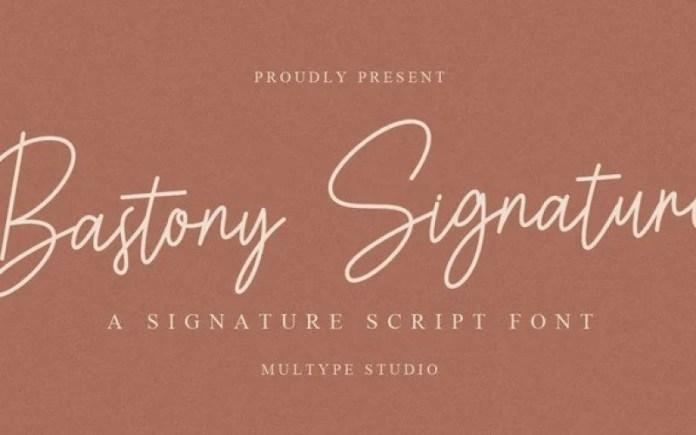 Bastony Handwritten Font