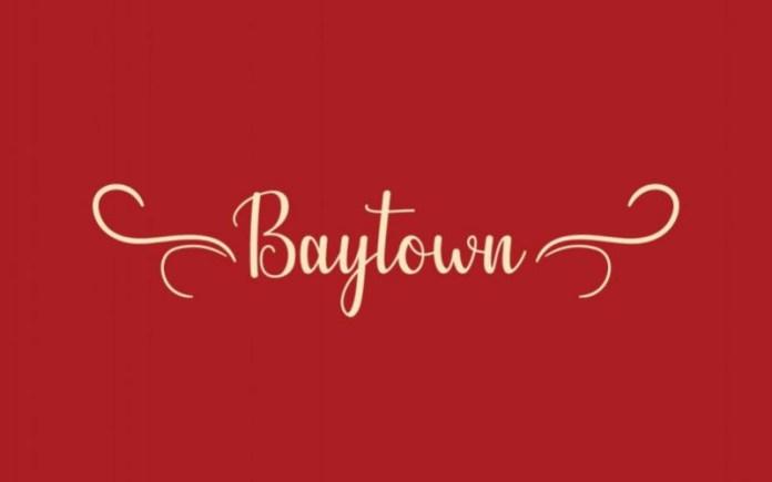 Baytown Script Font