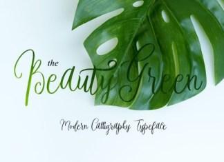 Beauty Green Calligraphy Font