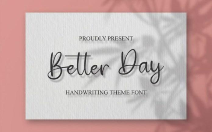 Better Day Handwritten Font