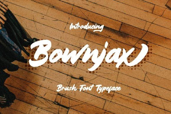 Bownjax Brush Font