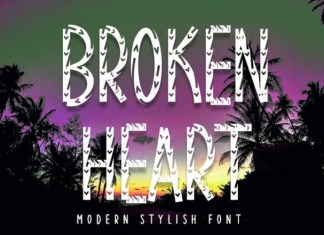 Broken Heart Display Font