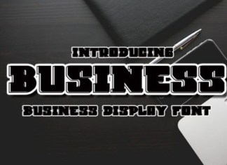 Business Display Font
