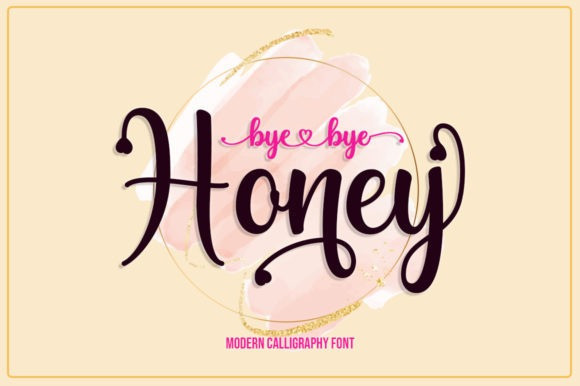 Byebye Honey Calligraphy Font