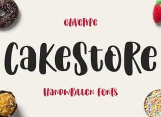Cake Store Display Font