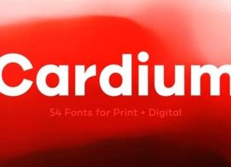 Cardium Sans Serif Font