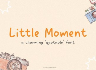 Little Moment Handwritten Font