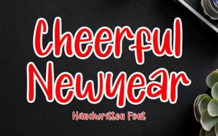 Cheerful Newyear Display Font