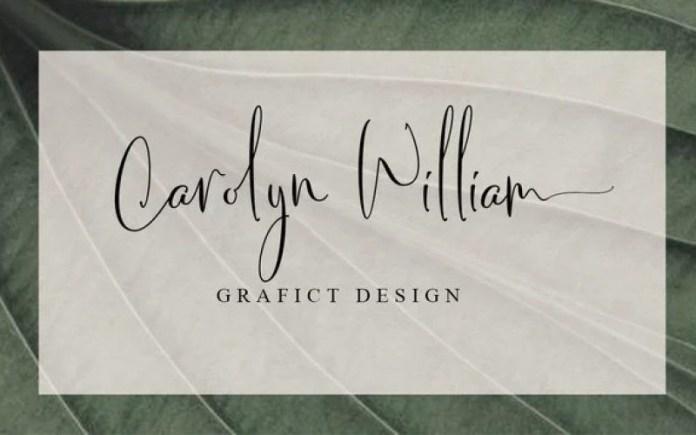 Chery Santos Calligraphy Font