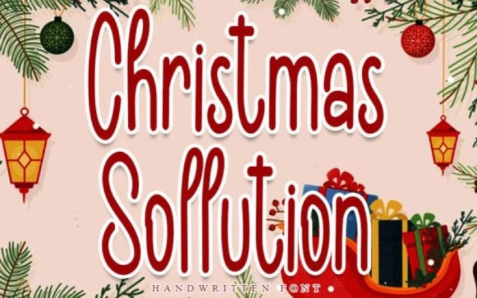 Christmas Sollution Display Font