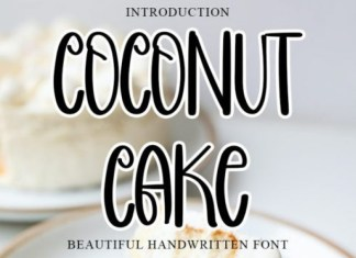 Coconut Cake Display Font