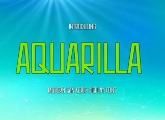 Aquarilla Display Font