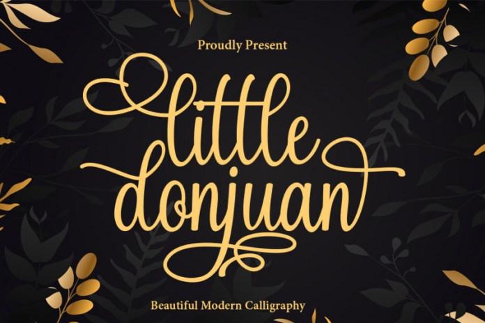 Little Donjuan Calligraphy Font