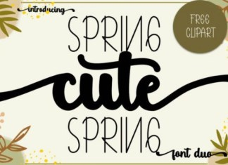 Cute Spring Font Duo