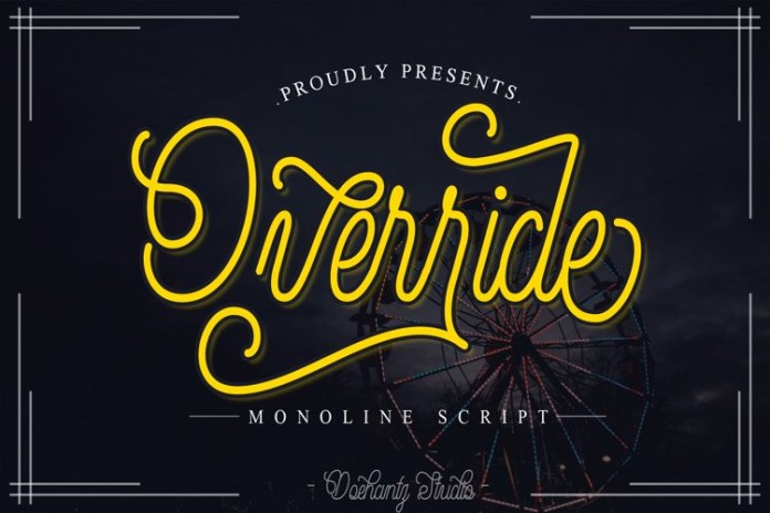 Override Script Font