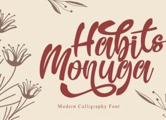 Habits Monuga Script Font