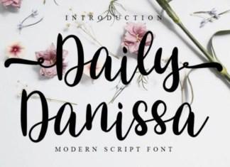 Daily Danissa Calligraphy Font