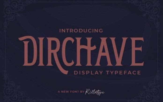 Dirchave Display Font