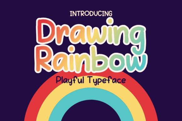 Drawing Rainbow Display Font