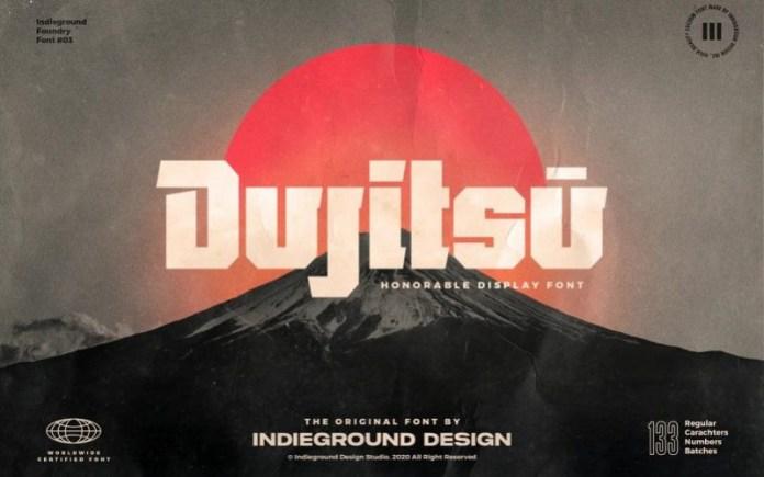 Dujitsu Display Font