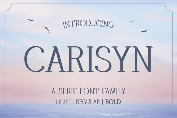 Carisyn Display Font