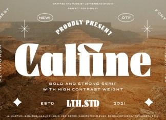 Calfine Serif Font