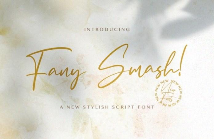 Fany Smash Script Font