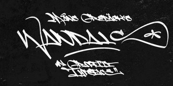 Slim Wandals Brush Font